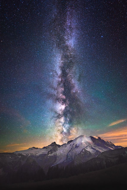 milkyway, mt rainier,