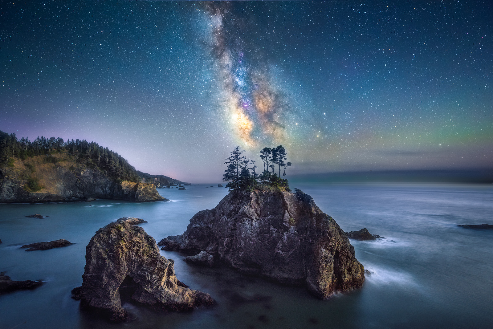 Oregon Coast, Samuel H Boardman, Oregon milky Way, photo
